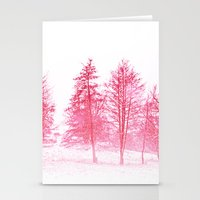 Pink Winter Stationery Cards