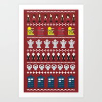 Doctor Who - Time of The Doctor - 8 bit Christmas Special Art Print