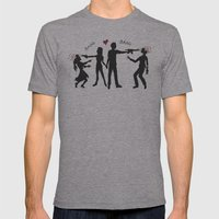 Zombie Hunting III Mens Fitted Tee Athletic Grey SMALL