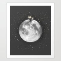 Lost In A Space / Moonel… Art Print