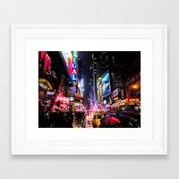New York City Night Framed Art Print