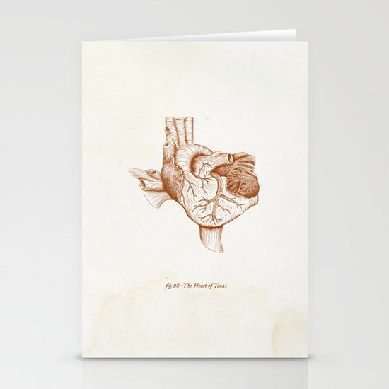 The Heart of Texas (UT) Stationery Card