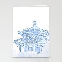 Zen Temple In The Cloud Stationery Cards