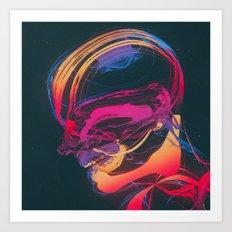 HEADSWIM  Art Print