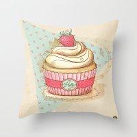 my Vintage Cupcake Throw Pillow