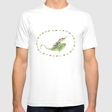 The Horned Anole White SMALL Mens Fitted Tee