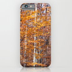 Golden brown leaves Slim Case iPhone 6s