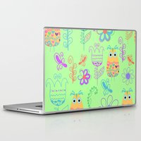 owls Laptop & iPad Skins featuring Owls by luizavictorya72