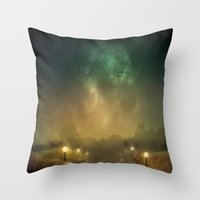 Ghost Lights Throw Pillow