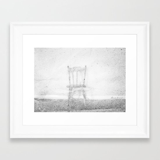 Between Space and Emptiness Framed Art Print