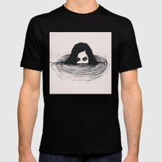 BLACK WATER SMALL Black Mens Fitted Tee