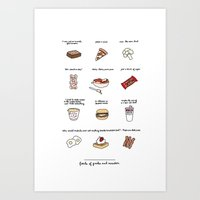 Foods Of Parks And Rec Art Print
