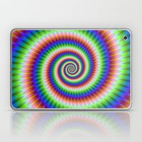 Green Blue Red and Yellow Spiral Laptop & iPad Skin