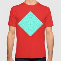 Radiate (Mint) Mens Fitted Tee Red SMALL