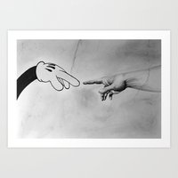 The Creation Of Mickey Art Print