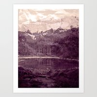Olden Days Memories of the Mountain calling Art Print