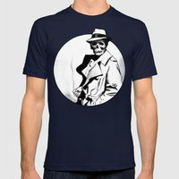 Skeleton Expatriate Mens Fitted Tee Navy SMALL