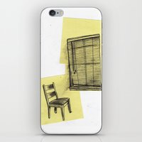 invisible man looking out of the window iPhone & iPod Skin