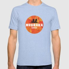 Muskoka Chairs Mens Fitted Tee Tri-Blue SMALL