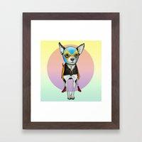 Chihuahua - Luchador  Framed Art Print