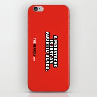 A MOUSTACHE IS JUST AN A… iPhone & iPod Skin