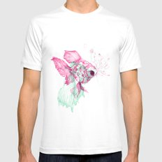 Pisces Baby Mens Fitted Tee White SMALL