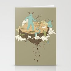 Frog Rain Stationery Cards
