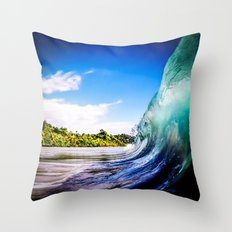 Wave Wall Throw Pillow