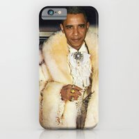 obama iPhone & iPod Cases featuring Fabulous Obama by Andy Detskas