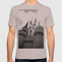 Disney Castle Mens Fitted Tee Cinder SMALL