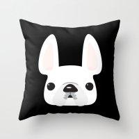 White On Black Throw Pillow