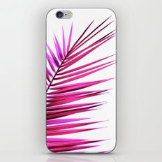 pink palm leaf II iPhone & iPod Skin