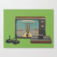 Space Invaders II Canvas Print