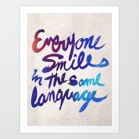Everyone Smiles Art Print
