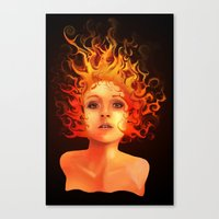 Flame Princess Canvas Print