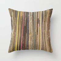 Records Throw Pillow