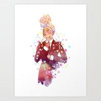 Janelle Monae's Neon Dre… Art Print
