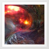 Flaming Seashell 5 Art Print