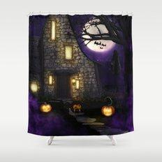 Spider Halloween Shower Curtain