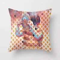 Throw Pillow featuring Third eye by Cristian Blanxer