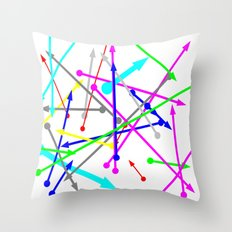 wohin soll es gehen - the right direction Throw Pillow
