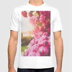 Roses White Mens Fitted Tee SMALL