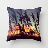 Prairie Skies Throw Pillow