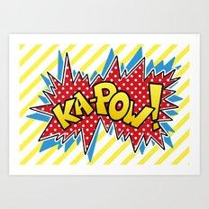 Ka-Pow Art Print
