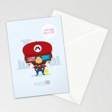 mario 3d Stationery Cards