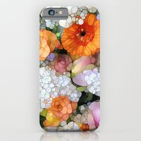 floral iPhone & iPod Cases featuring Joy is not in Things, it is in Us! by Joke Vermeer