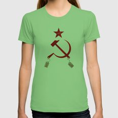 Communism Vs. Capitalism Womens Fitted Tee Grass SMALL