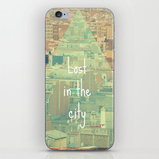 Lost in the city iPhone & iPod Skin
