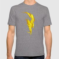 Abstract island Mens Fitted Tee Tri-Grey SMALL