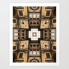 Architectural Sky Light Structure Art Print